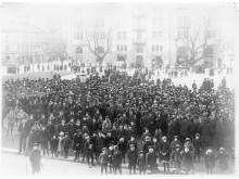 Demonstration Tyska torget, Norrköping