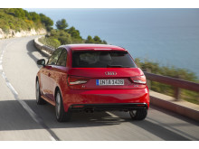 Audi A1 misano red rear left side