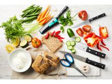 Knivar med mat