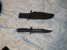 Knife on Micha Bedeau's bed
