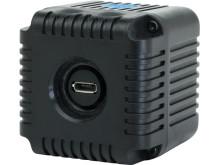 Lume Cube, baksida med synlig mini-USB