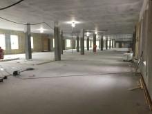 Fra bygging av LHL-sykehuset på Gardermoen. Foto: HENT