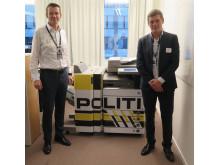 Trond Egil Nordby, driftssjef i Politiet og Jørgen Lorentzen, kundeansvarlig i Canon Norge