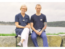 Charlitte Ericson, distriksläkare och verksamhetschef på Bohuslinden, och Marcus Jangsjö, astma- och kolsjuksköterska på Bohuslinden.