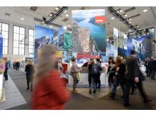 Blickfang und Publikumsmagnet: Der Norwegenstand auf der ITB