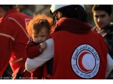 Evakuering av Homs - litet barn