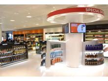 Nytt shoppingstråk utrikes avgångshall Göteborg Landvetter