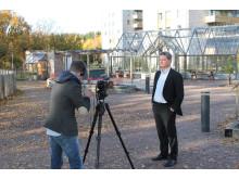 Dan Sandén intervjuas av UNFCCC
