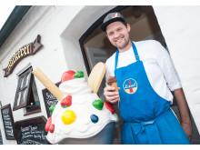 Eismachen ist seine Leidenschaft. Das vegane Schokoladeneis sein Favorit: Jens Lund