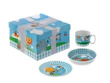 Moose Design blå - kopp, skål og tallerken