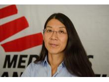 Läkaren Joanne Liu, Läkare Utan Gränsers internationella ordförande. Foto: Natacha Buhler / Läkare Utan Gränser.