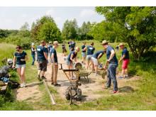 Renovierung des Boule Platzes im Generationenpark