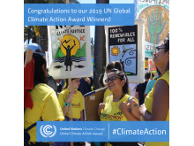 MAX och klimatpositiv prisas av UN Global Climate Change
