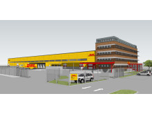 3D vy av nya terminalen i Västberga