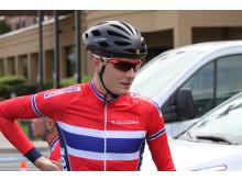 Markus Hoelgaard før trening under sykkel-VM 2015