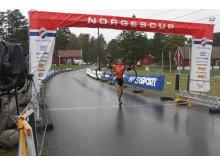 Erik Nordsæter Resse går over målstreken NorgesCup Sykkelkross