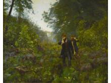H.A. Brendekilde. Paa forbudne veje, 1886. Olie på lærred. 160 x 126 cm. Brandts – Museum for Kunst & Visuel Kultur. Foto Bent Hesby