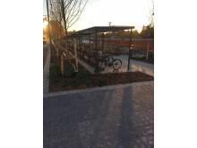 Cykelparkering i Täby