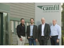Neu bei Camfil (v.l.n.r.): Bekim Shabani und Adis Odobasic / Vertrieb Außendienst , Carsten Groth /  Vertriebs- und Marketingleiter, Ulrich Overwin / Produktionsleiter