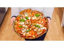Knäckepizza - Hässelbypizzan