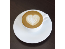 How to make a coffee heart - Step 5