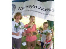 COUNTRYSIDE FUN: Jude Murray, left, at a NatureEd family fun day.