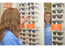 Twelve-year-old eye cancer survivor opens new Gillingham optician