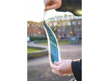 Flexible polymer-based solar cells