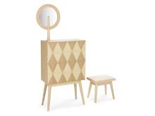 Lisa Hilland, Harlequin byrå med tillhörande spegel och pall, Olby Design