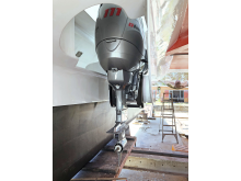 Hi-res image - YANMAR - The Dtorque diesel outboard mounted mid-hull on sailing catamaran X-IT