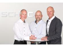 Schücos prosjektrådgivere, Thomas Aasen, Jardar Kilsti Nordeng og Tom Erik Wiger