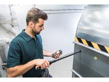 testo 440 med en Bluetooth-givare för lufthastighetsmätning
