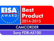 European Camcorder of the year 2014-2015: FDR-AX100