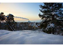 Kraftvärmeverket i Västerås värmer kalla vinterdagar
