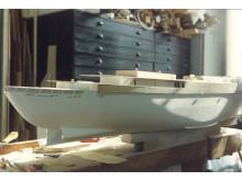 Modell av Kungsholm, arbete pågår, 1994.
