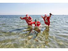 JMV2018 Julemænd bader på Bellevue