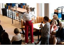 Publikfrågor under ledning av moderatorn Catarina Rolfsdotter-Jansson.