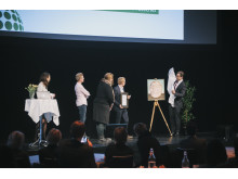 Lantmännen tar emot sitt pris under eventet 2014