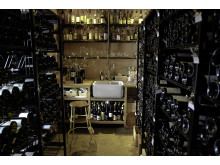 Wine cellar at Oaxen Krog