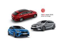 Alle de tre Ceed modellene vinner pris i Red Dot Awards 2019.