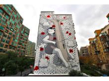 Målning av street art konstnären Millo