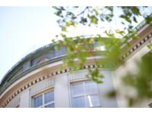 Kupoldetalj Handelshögskolans fasad