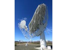 Band 1-mataren installerad på en av antennerna i MeerKAT