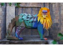 Pansarlejon - Ståtlig och hårdhudad konung