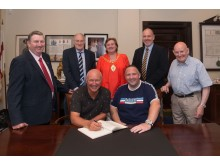 Mayor wishes borough's 'big three' well as Ballymena, Larne and Carrick prepare to kick off new season