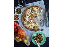 Knäckepizza - Trikoloren