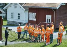 Peab-ungdommene lærer blant annet om Utøyas historie.