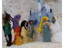 Screenshot från filmen En utflykt på Nordpolen skapad av elever från Västra Hisingen: Väderbodarnas förskola under ledning av filmpedagog Erik Löfdahl