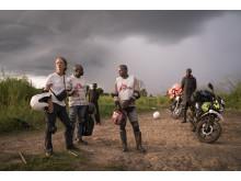Läkare Utan Gränsers akutteam under en vaccinationskampanj i Kongo-Kinshasa.