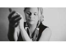 Liselotte Östblom, sångerska och medverkande i Kungl. Musikhögskolans jazzfestival New Sound Made, 19-21 maj 2014 i Stockholm.